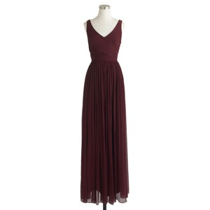 J.Crew Cabernet J.Crew Heidi Long Chiffon Dress Dress