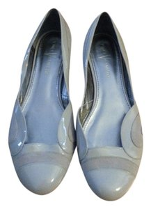 Vince Camuto Patent Leather Suede Flat Beige Flats