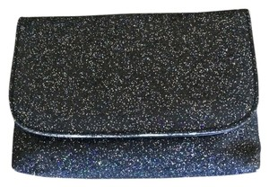 Ann Taylor LOFT Black with Glitter Clutch