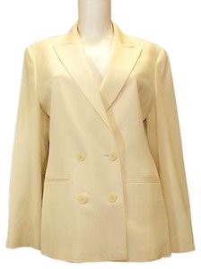 Max Mara Double Breasted Wool Beige Blazer