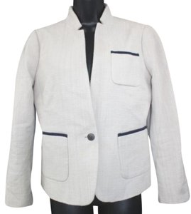 Banana Republic Woven Tan Cotton Jacket Blazer