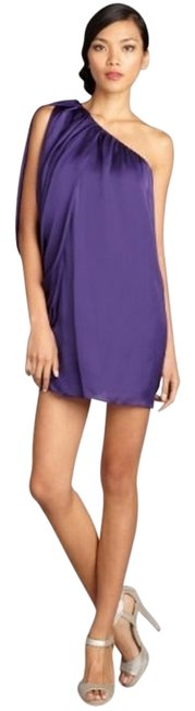 Item - Royal Purple Batwing Above Knee Cocktail Dress Size 6 (S)