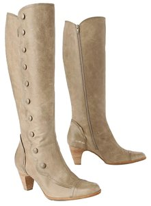 Anthropologie Spats Vintage Knee Taupe Boots