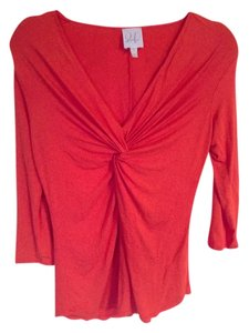 Julienne W Top Orangish Red