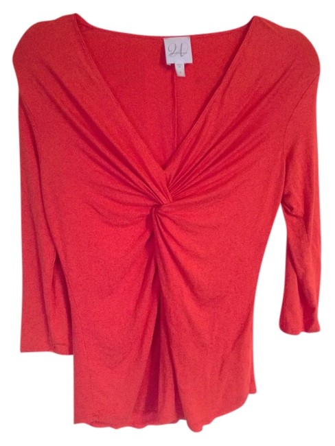 Preload https://img-static.tradesy.com/item/816146/orangish-red-weston-wear-blouse-size-8-m-0-0-650-650.jpg