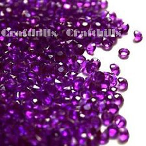 10 000 Pcs Purple Acrylic Diamond Confetti 4.5mm For Wedding Party Floral Centerpiece Decoration Receiption Table