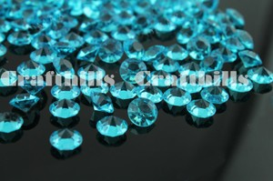 Teal 10 000 Pcs Acrylic Diamond Confetti 4.5mm For Party Floral Centerpiece Receiption Table Scatters Ceremony Decoration