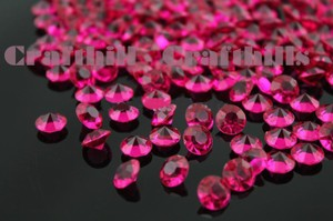 10000 Pcs Fuchsia Acrylic Diamond Confetti 4.5mm For Wedding Party Floral Centerpiece Decoration Receiption Table
