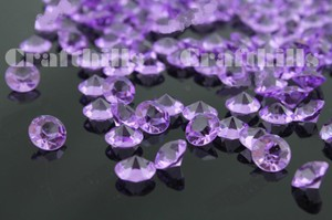 10000 Pcs Lavender Acrylic Diamond Confetti 4.5mm For Wedding Party Floral Centerpiece Decoration Receiption Table