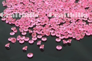 Pink 10 000 Pcs Acrylic Diamond Confetti 4.5mm For Party Floral Centerpiece Receiption Table Scatters Ceremony Decoration