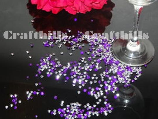 Pink 10 000 Pcs Acrylic Diamond Confetti 4.5mm For Party Floral Centerpiece Receiption Table Scatters Ceremony Decoration Image 2