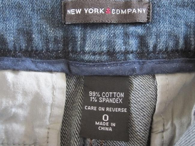 New York & Company Capri/Cropped Denim-Dark Rinse