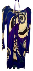 Emilio Pucci dress with belt short dress Emilio pucci Blue, purple and white on Tradesy