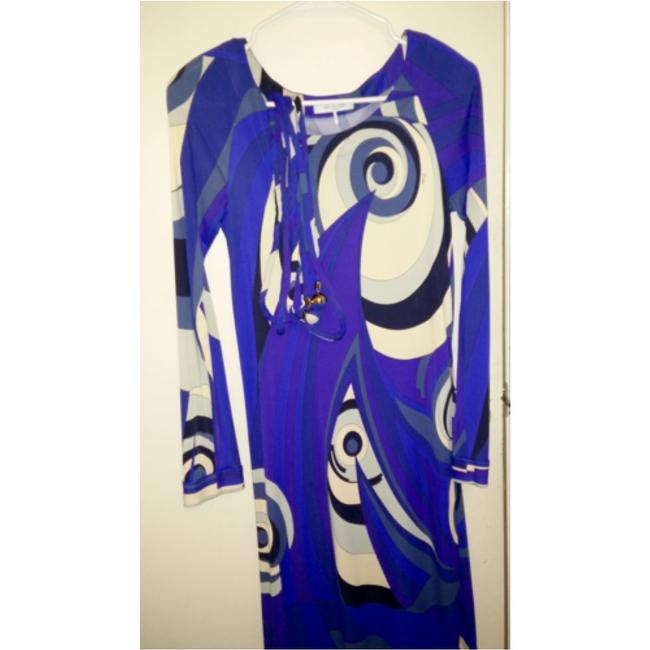 Emilio Pucci dress with belt short dress Emilio pucci Blue, purple and white on Tradesy Image 1