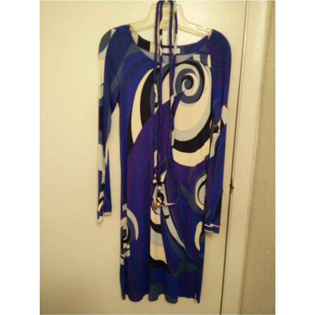 Emilio Pucci dress with belt short dress Emilio pucci Blue, purple and white on Tradesy Image 11