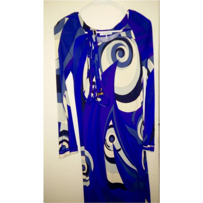 Emilio Pucci dress with belt short dress Emilio pucci Blue, purple and white on Tradesy Image 2