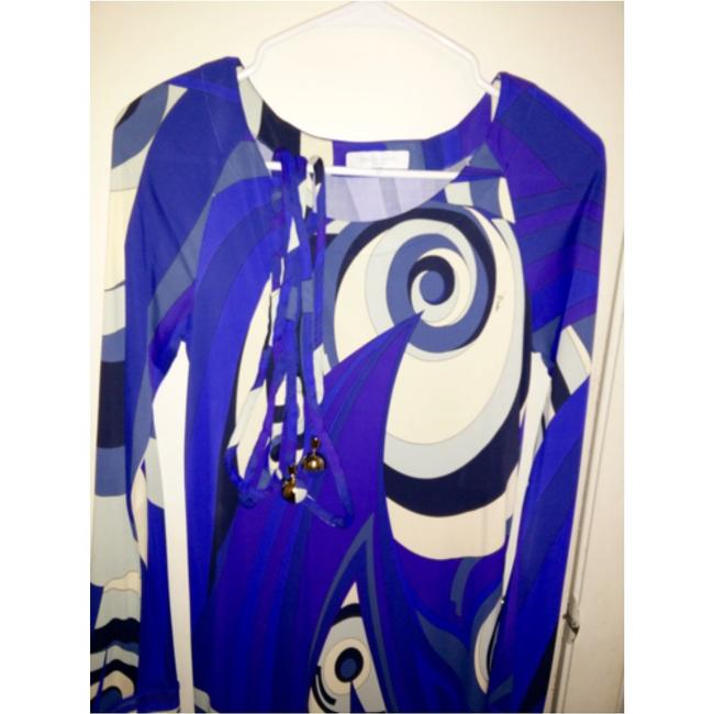 Emilio Pucci dress with belt short dress Emilio pucci Blue, purple and white on Tradesy Image 3