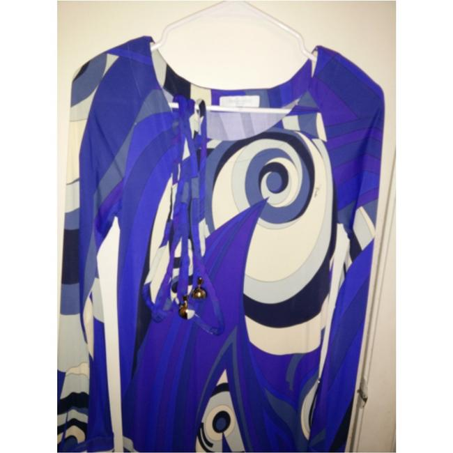 Emilio Pucci dress with belt short dress Emilio pucci Blue, purple and white on Tradesy Image 9