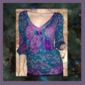 One Clothing Top Teal, Purple Image 1