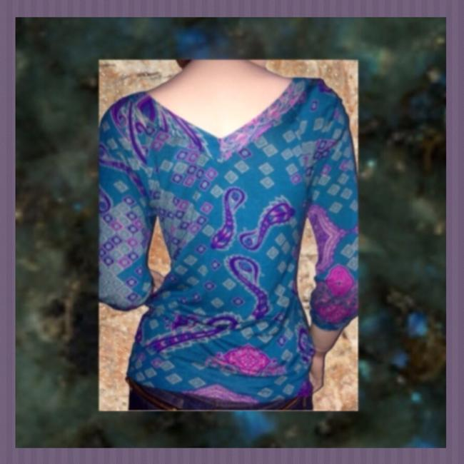 One Clothing Top Teal, Purple