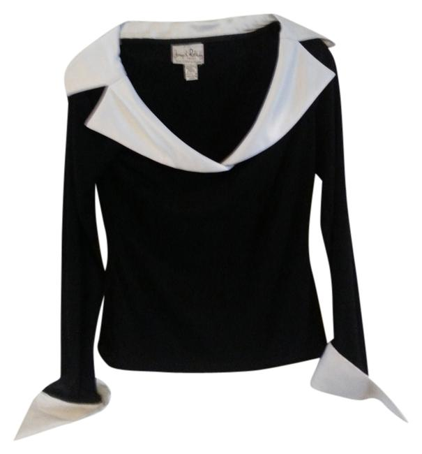 Preload https://img-static.tradesy.com/item/816393/joseph-ribkoff-black-and-white-vintage-item-from-the-1980s-night-out-top-size-4-s-0-0-650-650.jpg