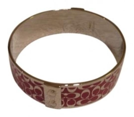 Coach Coach Pink and silver bangle bracelet