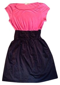 Be Bop short dress Pink And Black on Tradesy