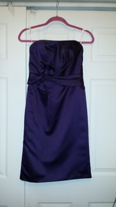 David's Bridal Lapis - Dark Purple Strapless Dress