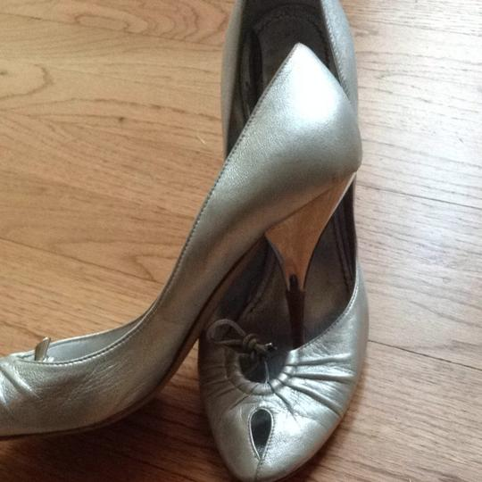 Casadei Prom Leather Silver Formal