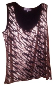 Jones New York Tank Date Comfortable Top Black and Gold