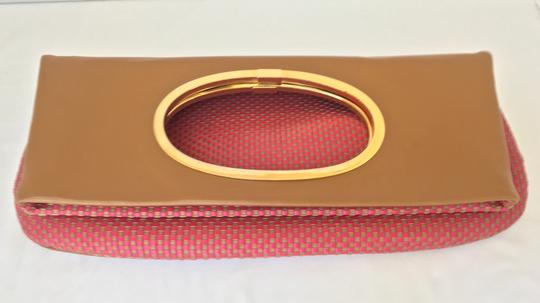Missoni Clutch Woven Leather Vintage Tote in Pink Tan