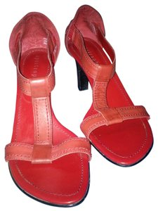 Apostrophe Sandal Red Leather Sandals