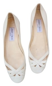 Jimmy Choo 36 Summer Spring Ballerinas Leather White Flats
