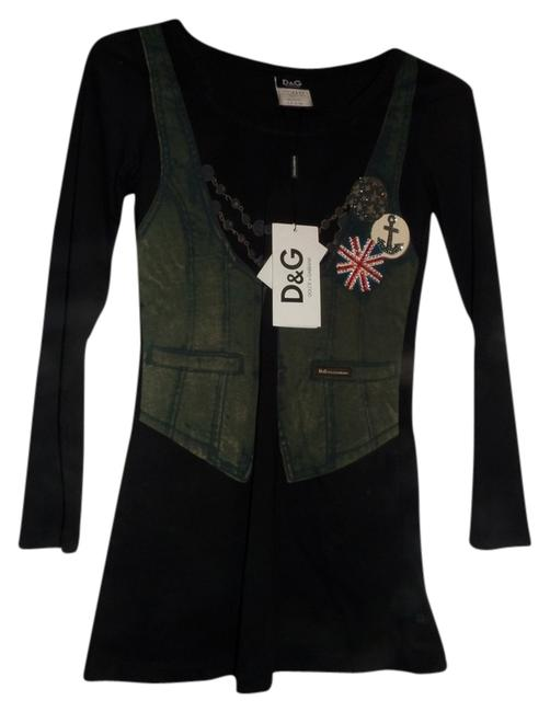 Preload https://img-static.tradesy.com/item/817378/dolce-and-gabbana-black-dolce-and-gabbana-sleeve-rockstar-shirt-night-out-top-size-4-s-0-0-650-650.jpg