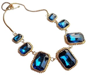 Other Elegant Vintage Blue Stone Necklace Collar