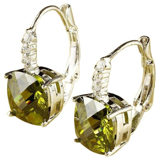 Other Exalted Princess peridot Gemstone Dangle Hook Earring