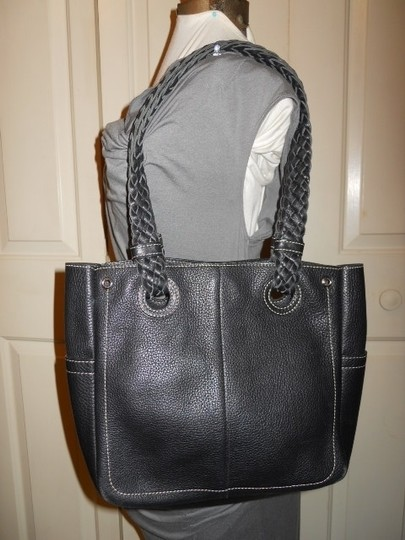 Nordstrom Leather Tote in black
