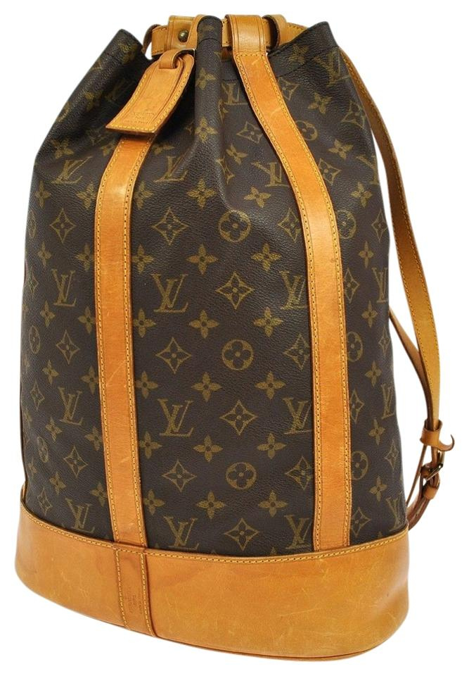 f93343443b76 Louis Vuitton Randonee Pre Owned Brown Monogram Canvas Backpack ...