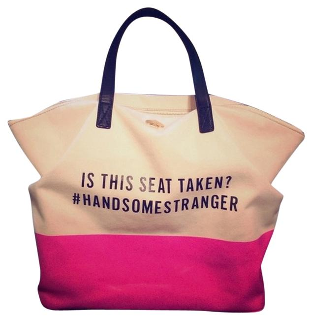 Item - Bag Call To Action Pink Canvas Tote