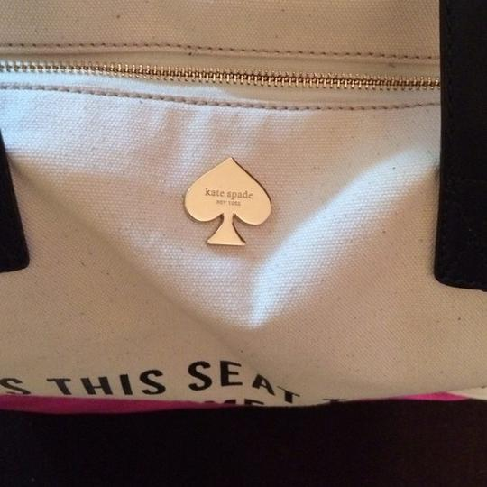 Kate Spade Rare Satchel Silver Large Call To Action Terry Tote in PINK Image 2
