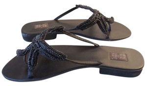 Bou Bou Des Colonies Black Sandals
