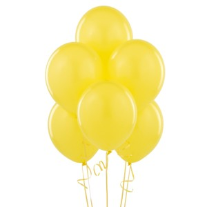 "Yellow 48 Pcs - 12"" Birthday Wedding Party Decor Latex Balloons Ceremony Table Top Ceiling Arch Decoration"