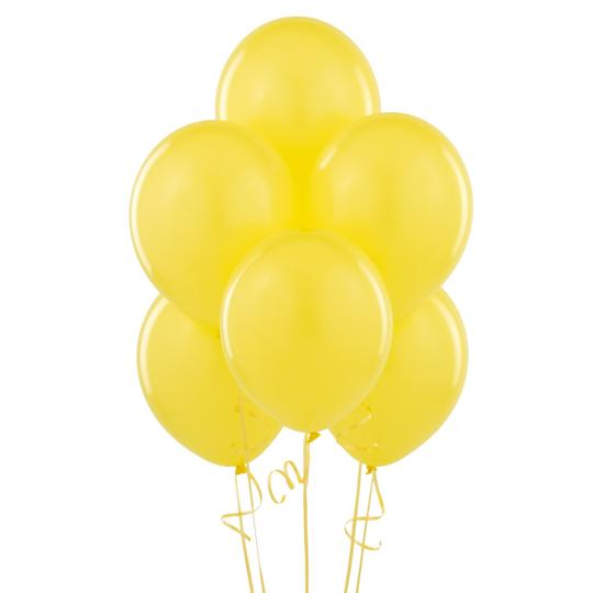 """Yellow 48 Pcs - 12"""" Birthday Wedding Party Decor Latex Balloons Ceremony Table Top Ceiling Arch Decoration"""