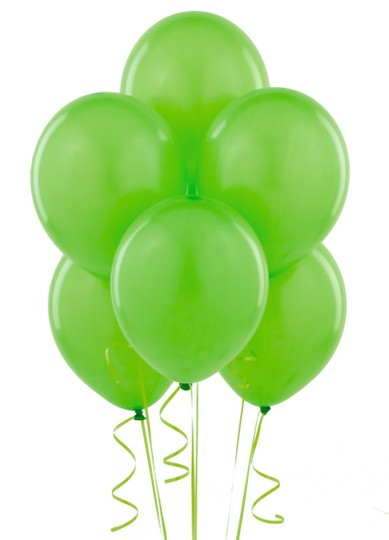 "Apple Green 48 Pcs - 12"" Birthday Party Decor Latex Balloons Ceremony Table Top Arch Decoration"