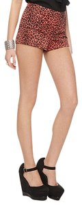 Forever 21 Hot Pants High Waisted Shorts Pink/Leopard