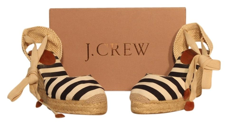 3b7bf25f25d J.Crew Ivory/ Navy Sardinia Espadrilles In Stripe By Wedges Size US 9 66%  off retail
