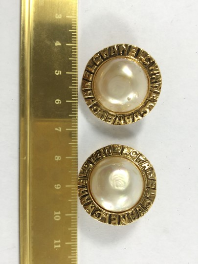 Chanel Vintage Gold and Pearl Clip-on Earrings