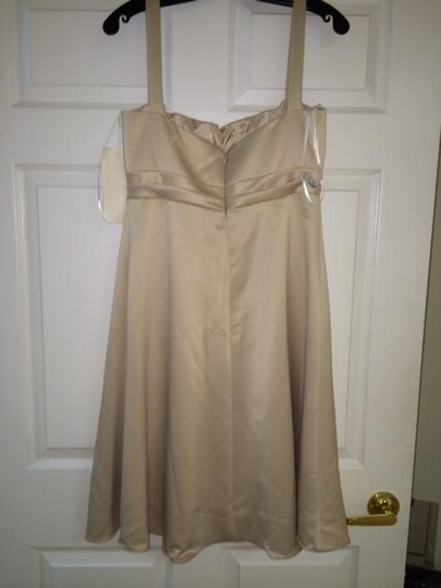 Jim Hjelm Occasions Vanilla Jh 5680 Feminine Bridesmaid/Mob Dress Size 8 (M)
