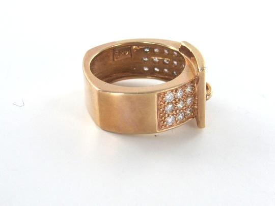 Other 14KT SOLID ROSE GOLD KARAT RING BAND BUCKLE 35 DIAMOND .75CT SZ 5.5 FINE JEWELRY