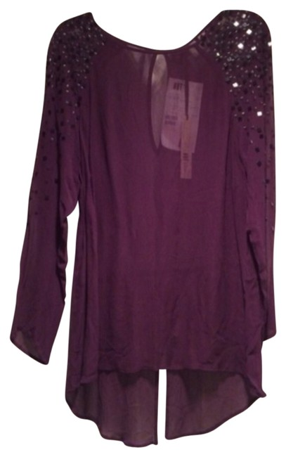 Preload https://img-static.tradesy.com/item/818602/kut-from-the-kloth-eggplant-blouse-size-4-s-0-0-650-650.jpg